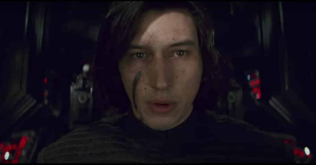 Kylo Ren after his defeat in a duel with Rey