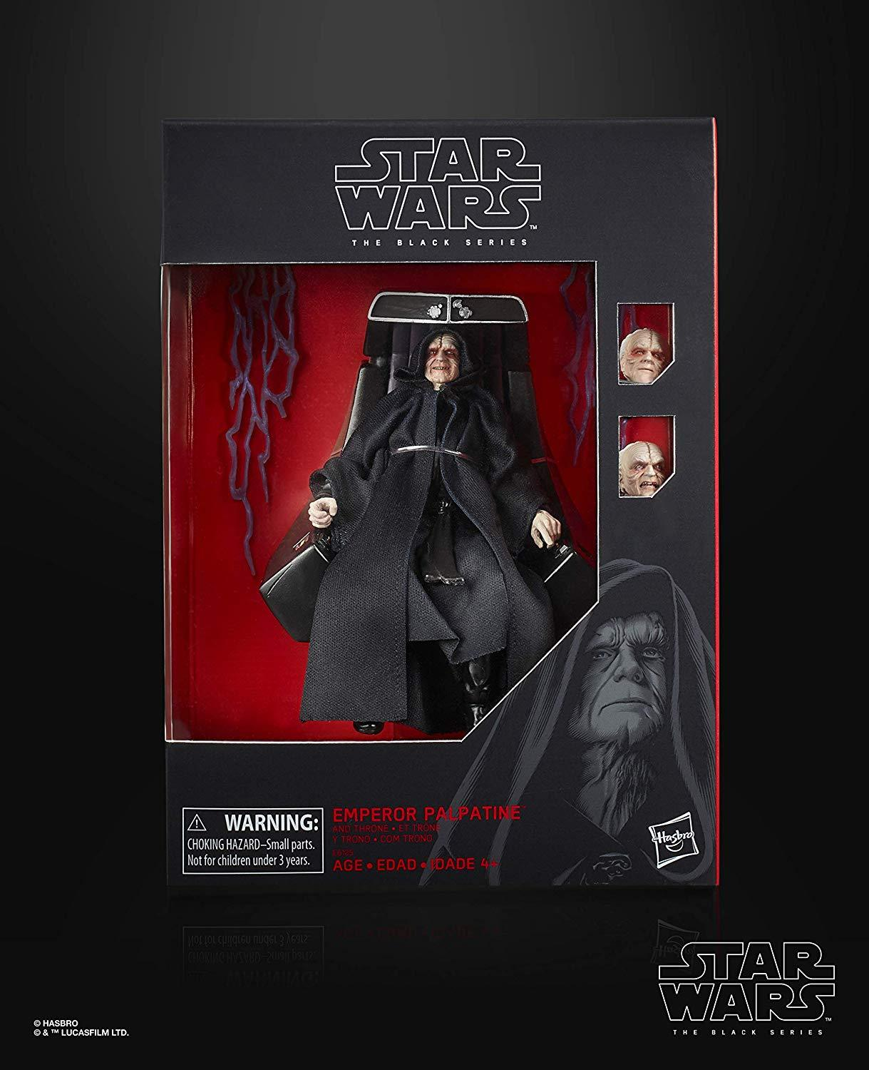 """The Black Series Emperor Palpatine Action Figure with Throne 6""""-Scale Return of The Jedi Collectible"""