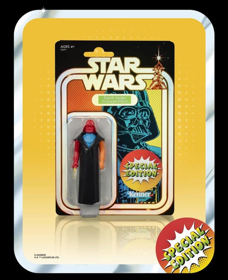 "Darth Vader Prototype Figure Retro Star Wars 3.75"""