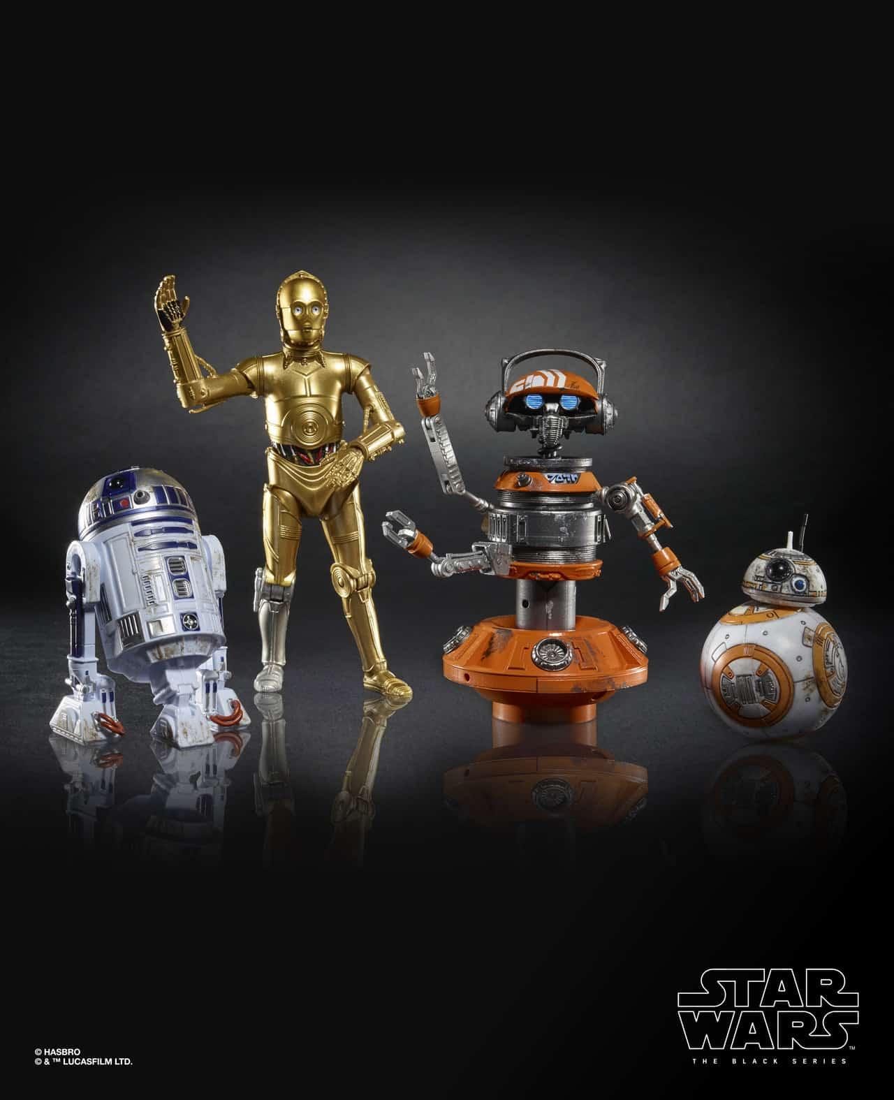 "Hasbro Disneyland Star Wars Galaxy's Edge Black Series Droid Depot 6"" Figure 4-Pack"