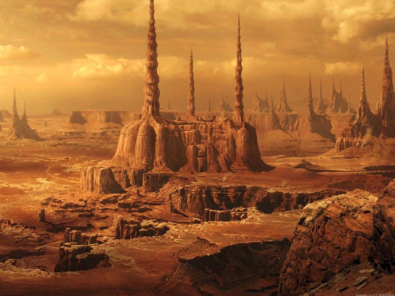 Planet Geonosis landscape