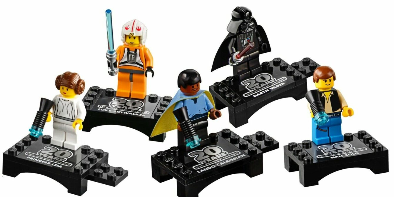 5 mini figures from Lego Star Wars 20th anniversary sets