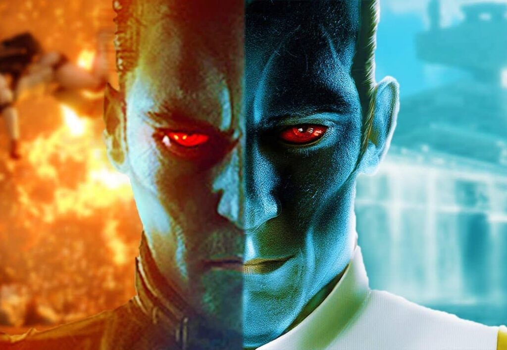 A close-up from Grand Admiral Thrawn
