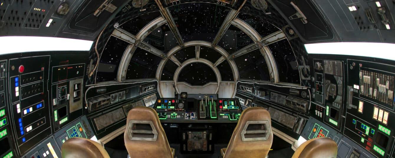 Inside Millennium Falcon's cockpit