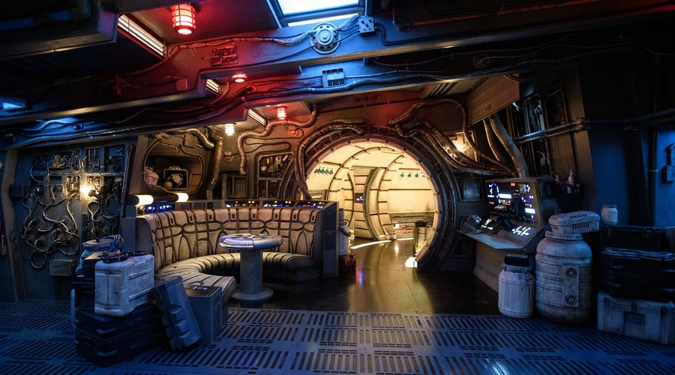 Inside Millennium Falcon