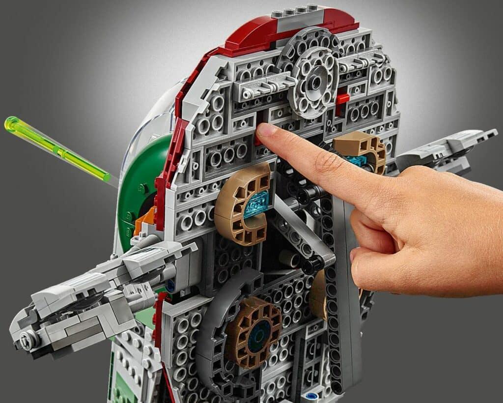 LEGO 75243 Slave I 20th anniversary detail