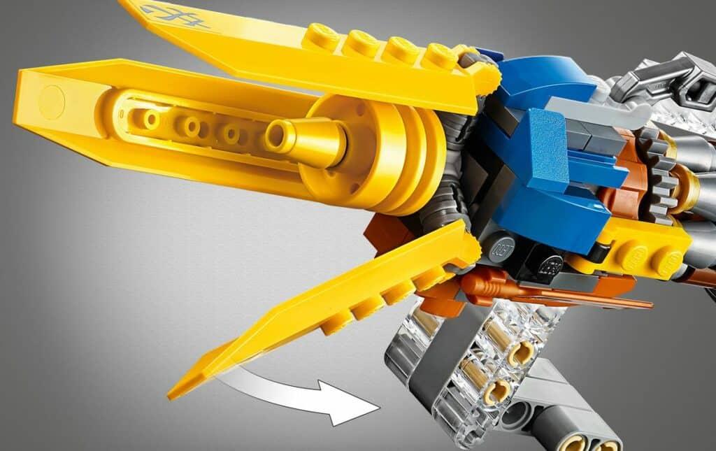 LEGO 75258 Anakin Podracer 20th anniversary detail 2