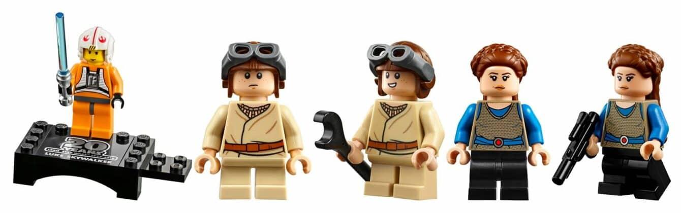 LEGO 75258 Anakin Podracer 20th anniversary mini figures