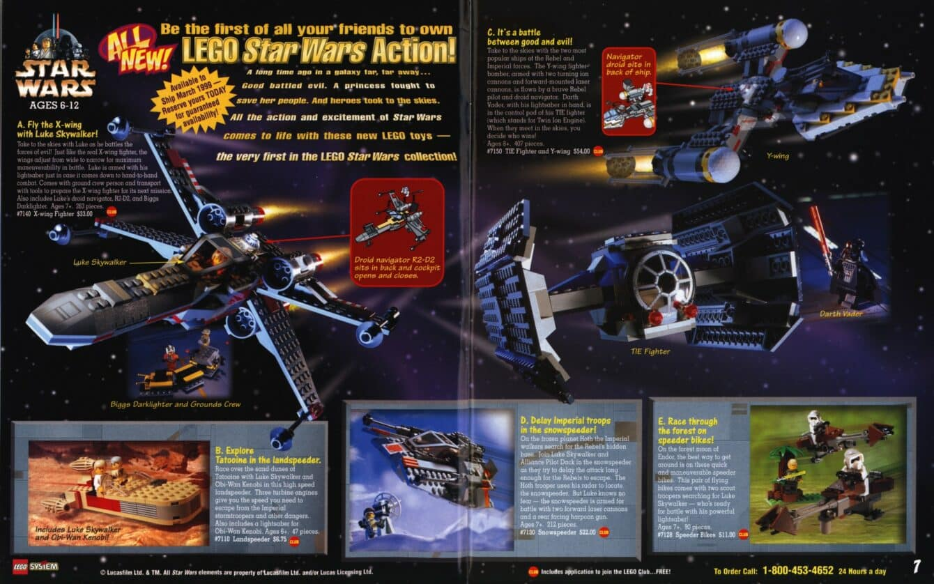1999 Lego Catalog Announcing Lego sets