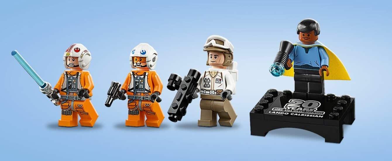Lego Star Wars Snowspeeder - 20th Anniversary 75259 mini figures