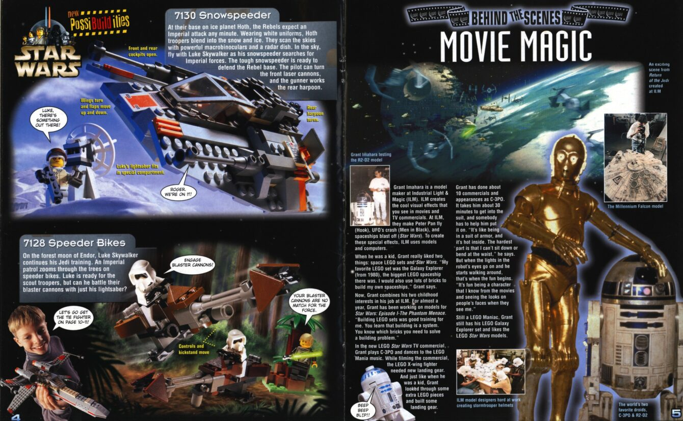 1999 Star Wars articles in Mania Magazine