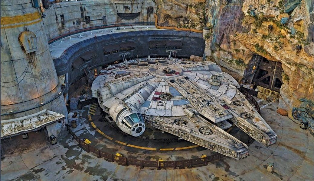Millennium Falcon from above