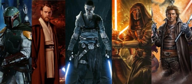 Several Character from Star Wars Expanded Universe