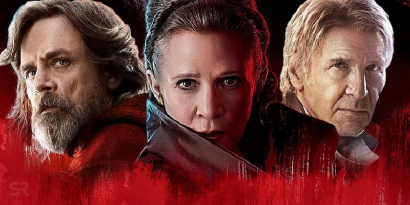 The characters Luke, Leia and Han from Star Wars Episode IX