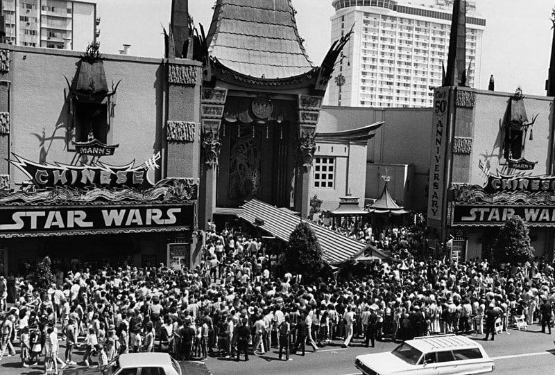 Star wars premiere in 1977