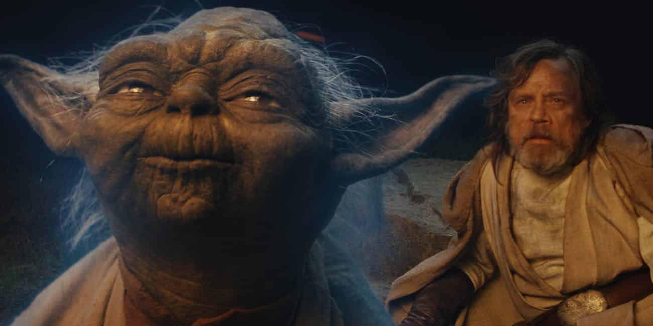 The Last Jedi Yoda's Force Ghost Scene