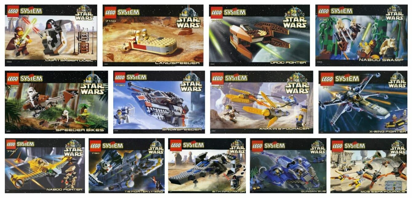 The first 13 Lego sets released in 1999