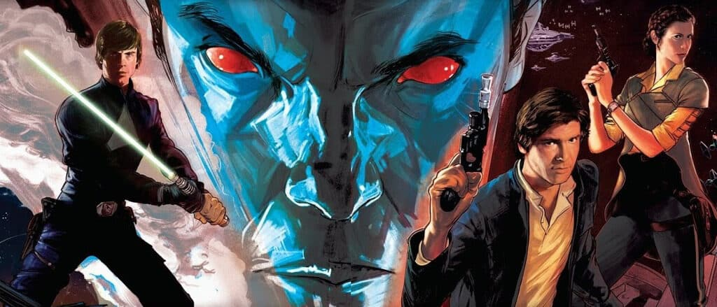 Thrawn trilogy book cover art