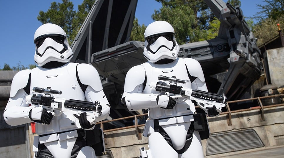 there's stormtroopers everywhere