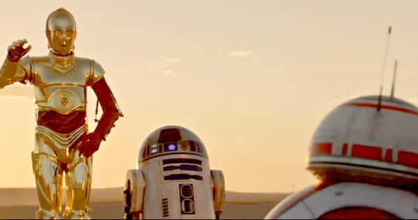 c3po, r2d2 and bb-8 met for the first time