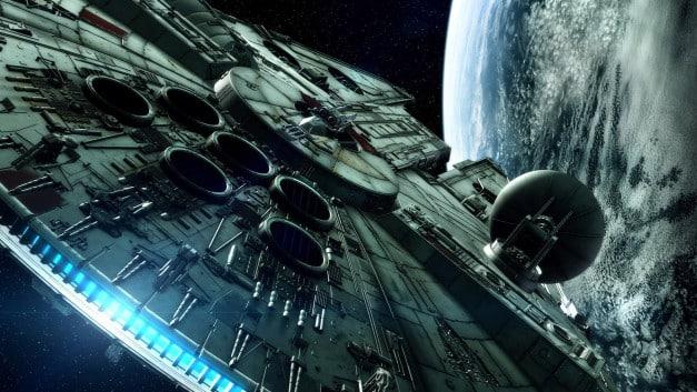 The Millenium Falcon in the Empire Strikes back