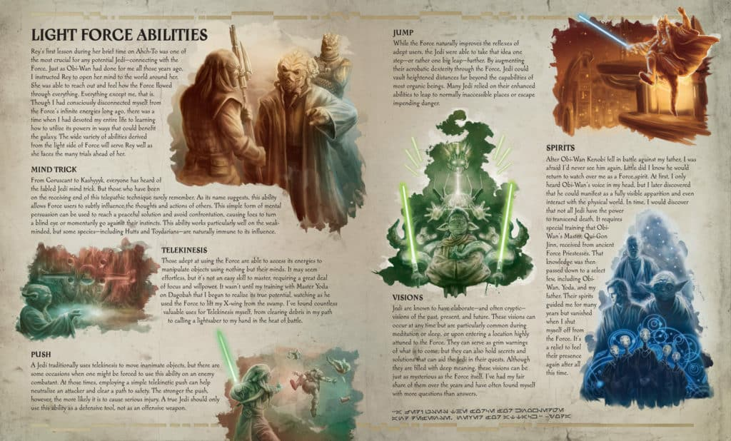 The Secrets of The Jedi Order: Light Force Abilities page