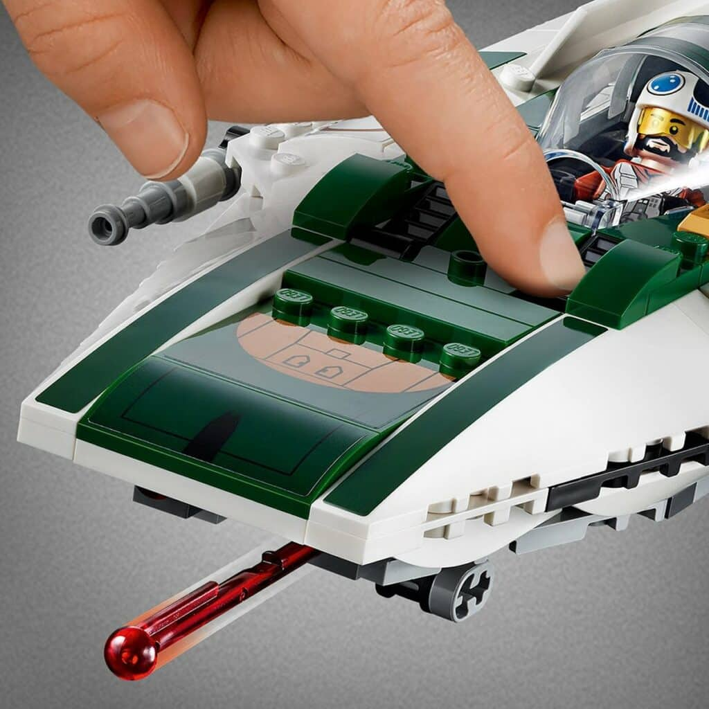 LEGO Star Wars 75248 Resistance A-Wing Starfighter detail 2
