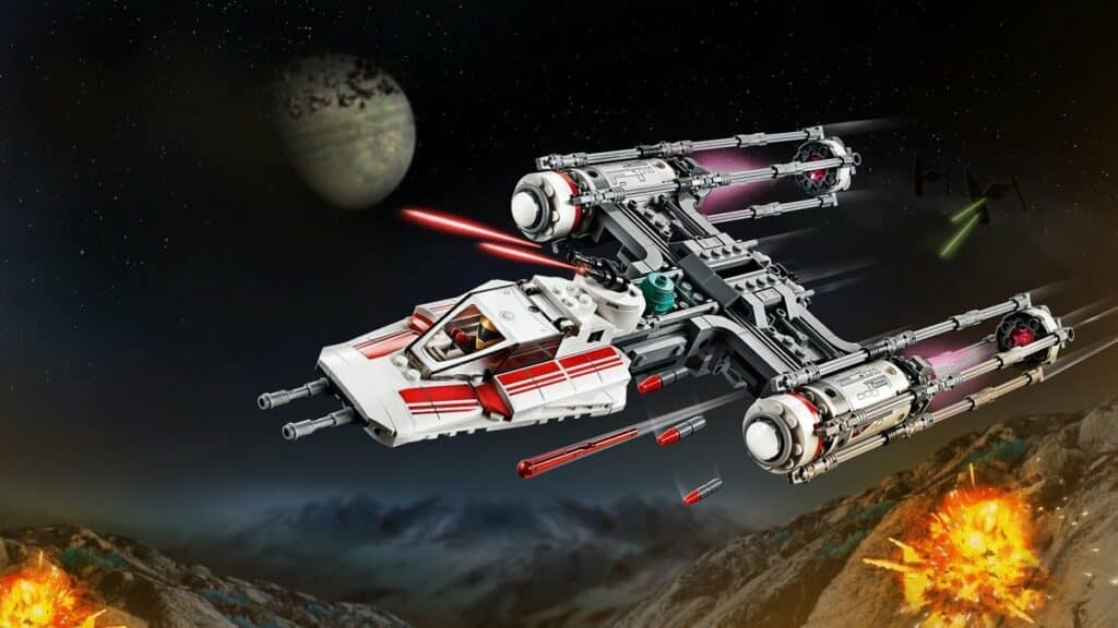 LEGO Star Wars 75249 Resistance Y-Wing Starfighter play