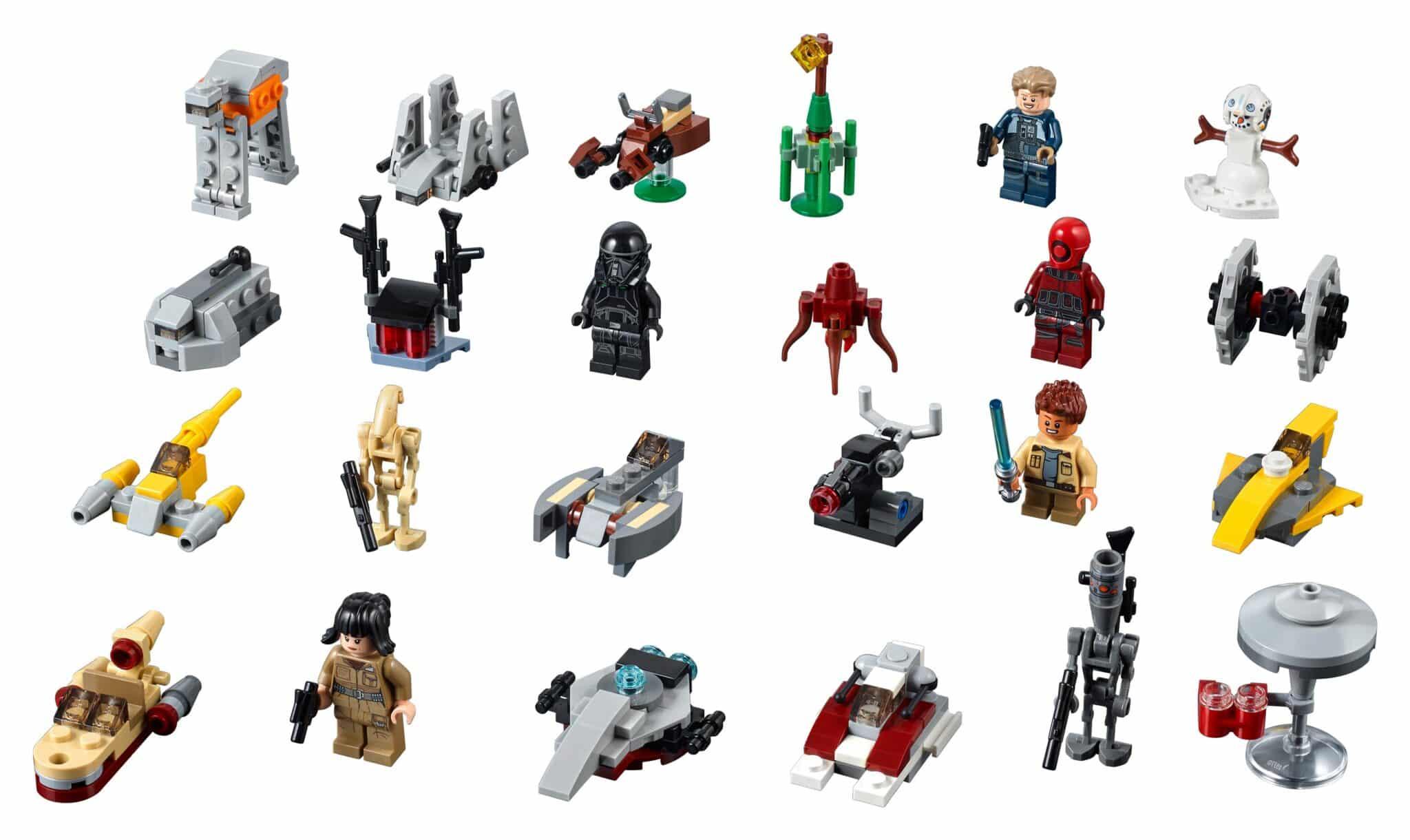 Lego Star Wars Advent Calendar 2018 (75213) figures