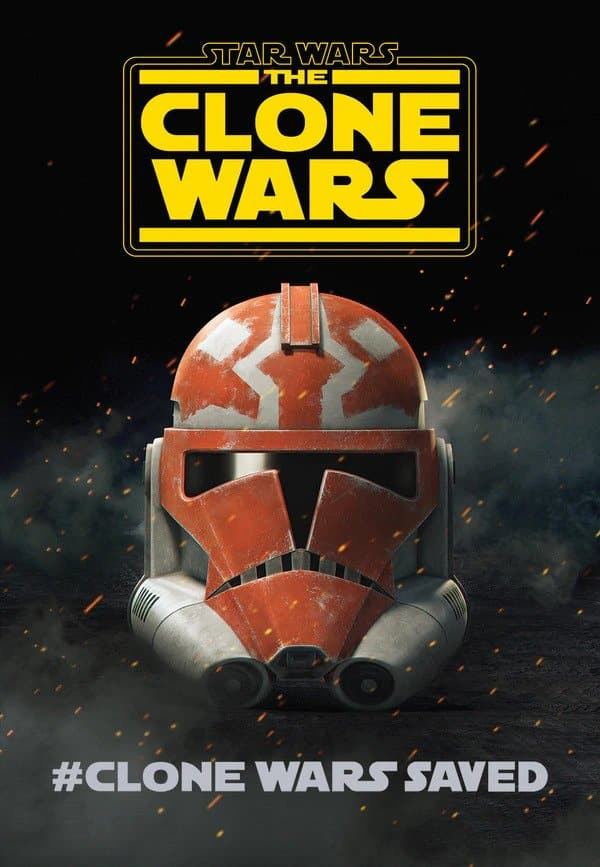 The Clone Wars Poster: Clone Wars saved